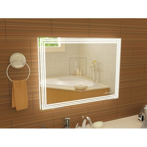 Зеркало в ванну с подсветкой Эвелин