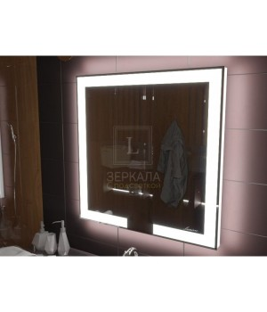 Зеркало с подсветкой лентой для ванной комнаты Новара 90x90 см