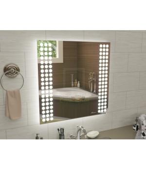 Квадратное зеркало с подсветкой для ванной Терамо 80x80 см