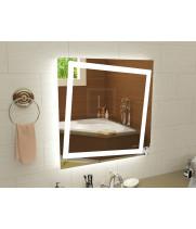 Квадратное LEd зеркало с подсветкой для ванной Торино 1200x1200 мм