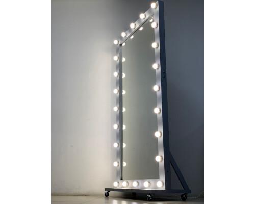 Гримерное зеркало на подставке во весь рост 200х100 Серая Лиственница