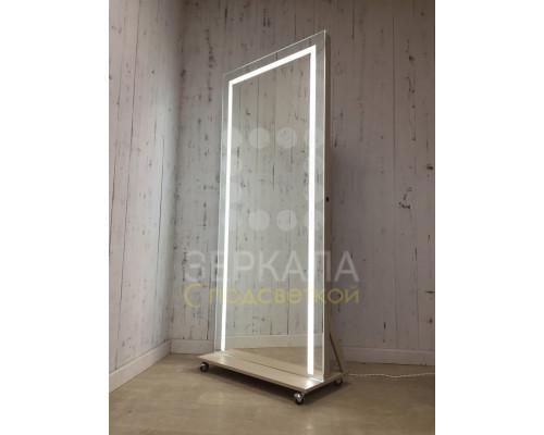 Гримерное зеркало с LED подсветкой на подставке 187х80