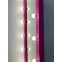 Розовое гримерное зеркало в пол 160 на 80 см