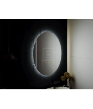 Зеркало в ванную комнату с подсветкой светодиодной лентой Априка