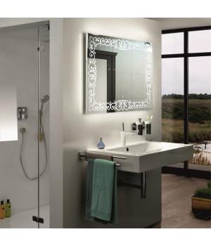 Зеркало в ванную комнату с LED подсветкой Каролина 80x80 см