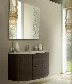 Зеркало квадратное в ванную комнату с подсветкой Майя 90x90 см