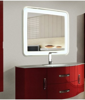 LED зеркало в ванную комнату с подсветкой Мила размером 70 на 70 см